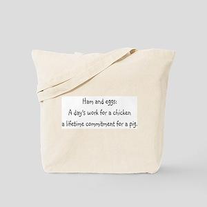 Ham and eggs Tote Bag
