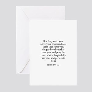 MATTHEW  5:44 Greeting Cards (Pk of 10)