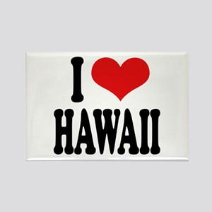I Love Hawaii Rectangle Magnet