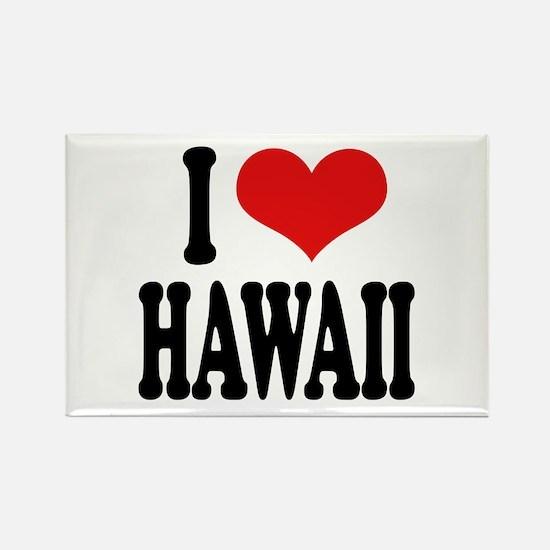 I Love Hawaii Rectangle Magnet