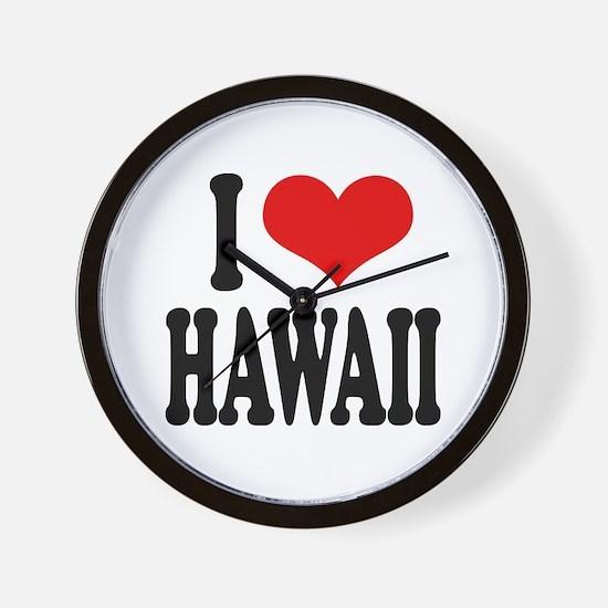 I Love Hawaii Wall Clock