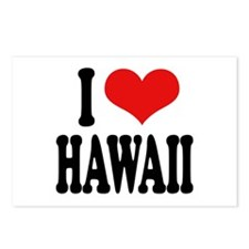 I Love Hawaii Postcards (Package of 8)