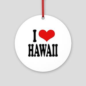 I Love Hawaii Ornament (Round)