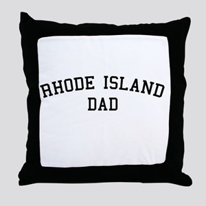 Rhode Island Dad Throw Pillow