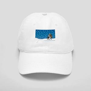 Basset Hound White Christmas Cap