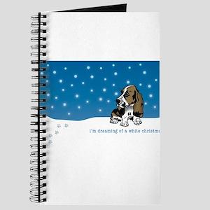 Basset Hound White Christmas Journal