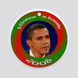Christmas to Remember Obama Ornament (Round)