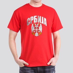 Serb Eagle Cyrillic Dark T-Shirt