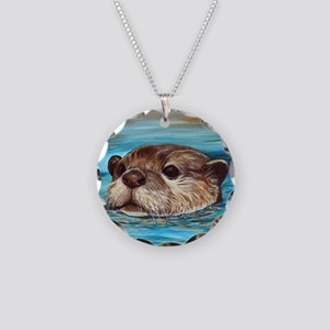 River Otter Necklace Circle Charm