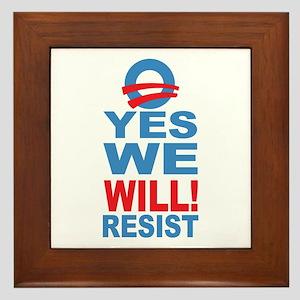 Anti Obama Framed Tile