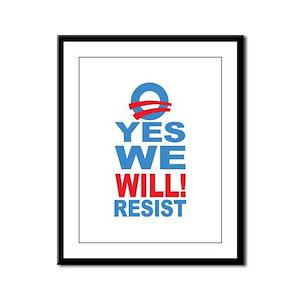 Anti Obama Framed Panel Print