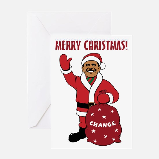 Merry Christmas Obama Greeting Card