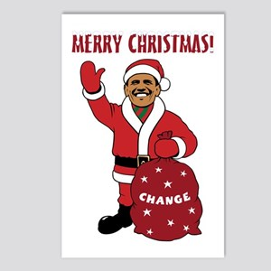 Merry Christmas Obama Postcards (Package of 8)