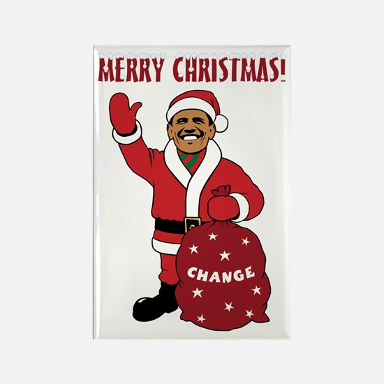 Merry Christmas Obama Rectangle Magnet (100 pack)