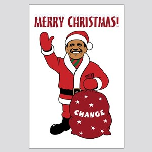 Merry Christmas Obama Large Poster
