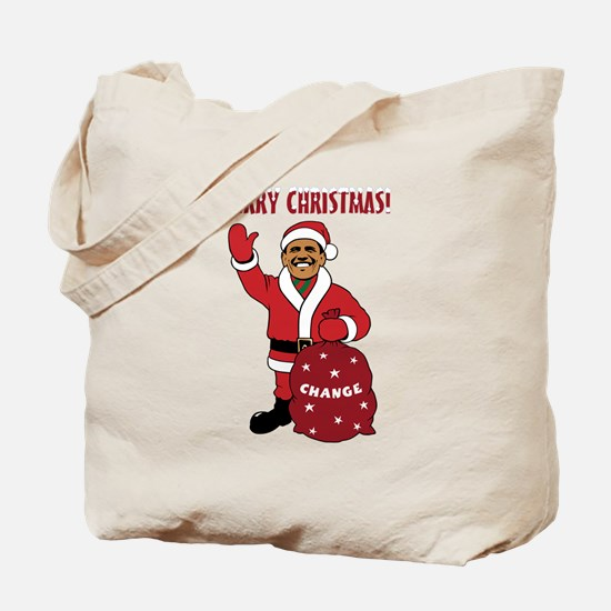 Merry Christmas Obama Tote Bag