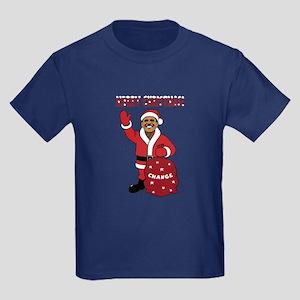 Merry Christmas Obama Kids Dark T-Shirt