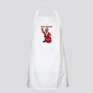 Merry Christmas Obama BBQ Apron