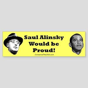 """Student Of Alinsky"" Bumper Sticker"
