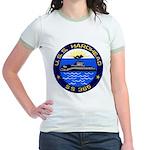 USS HARDHEAD Jr. Ringer T-Shirt