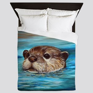River Otter Queen Duvet