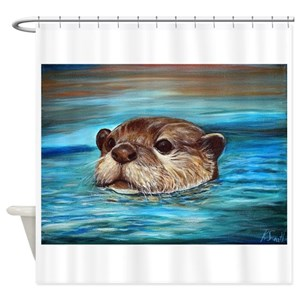 River Otter Shower Curtains