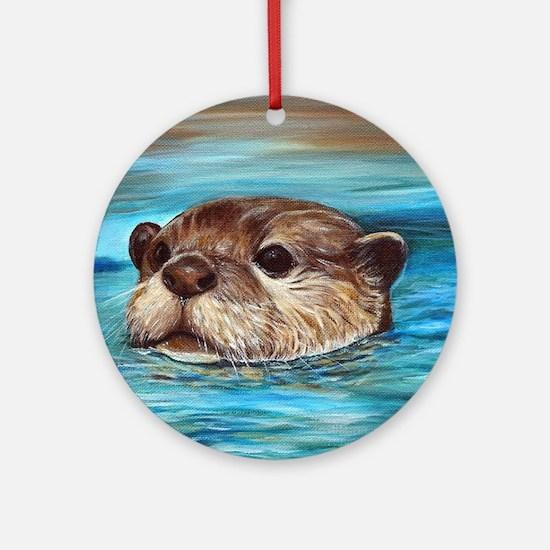 River Otter Round Ornament