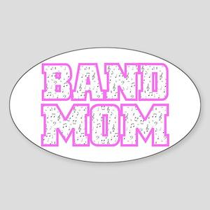 Varsity Band Mom Oval Sticker