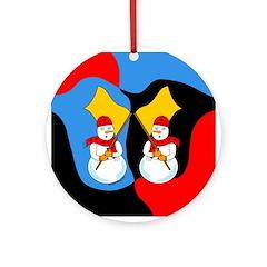 Guard Snowman Ornament (Round)