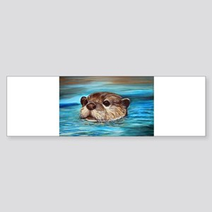 River Otter Bumper Sticker