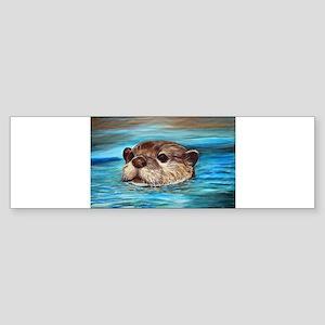 River Otter Bumper Sticker