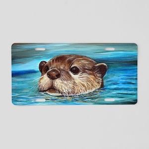 River Otter Aluminum License Plate