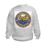 USS HARLAN COUNTY Kids Sweatshirt