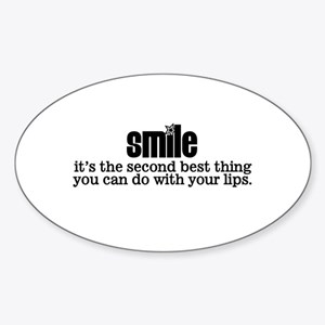 Smile Oval Sticker
