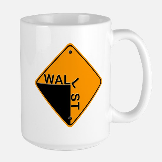 Wall St. Off The Cliff Gear Large Mug