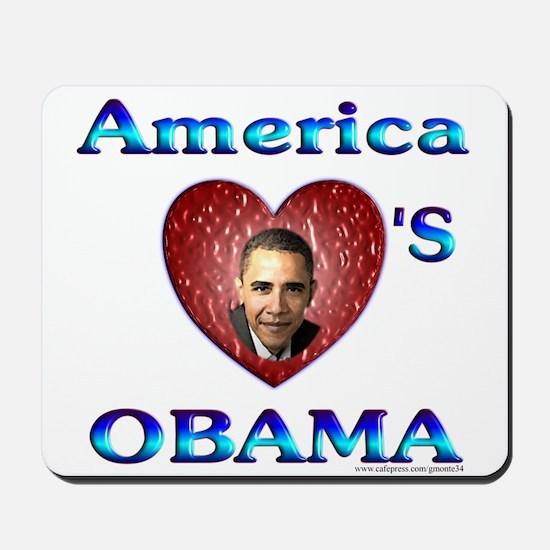 America Love's Obama Mousepad