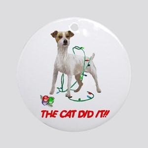 THE CAT DID IT!! Ornament (Round)