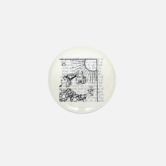 Tarot Key 0 - The Fool Mini Button