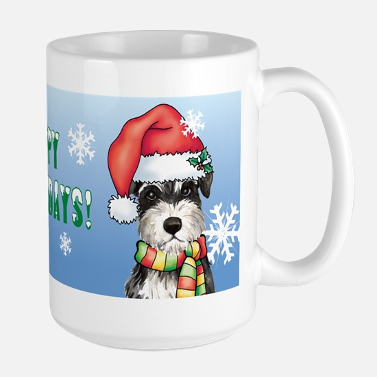 Holiday Miniature Schnauzer Large Mug