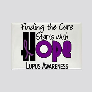 HOPE Lupus 4 Rectangle Magnet
