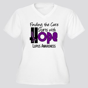 HOPE Lupus 4 Women's Plus Size V-Neck T-Shirt