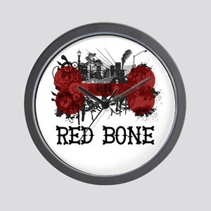 Riyah-Li Designs Red Bone Wall Clock