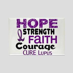 HOPE Lupus 3 Rectangle Magnet