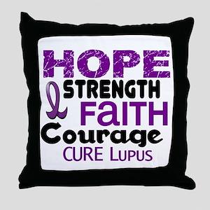 HOPE Lupus 3 Throw Pillow