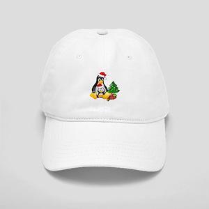 Its a Tux Christmas Cap