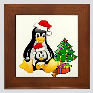 Its a Tux Christmas Framed Tile