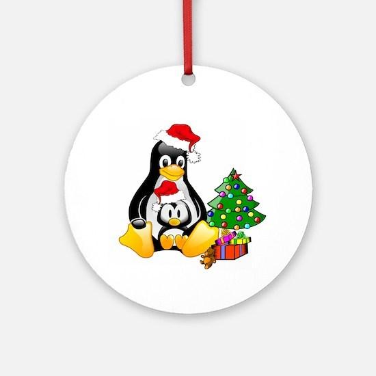 Its a Tux Christmas Keepsake (Round)