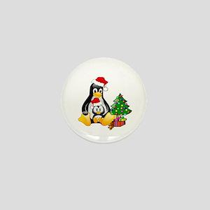 Its a Tux Christmas Mini Button
