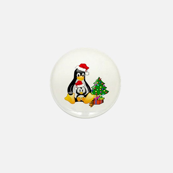 Its a Tux Christmas Mini Button