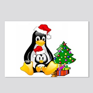 Its a Tux Christmas Postcards (Package of 8)
